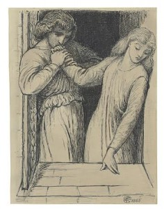 Dante Gabriel Rossetti (1828-1882) Study for 'Hamlet and Ophelia' (£20,000-30,000).