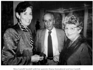 Nina Castelli Sundell with her parents Leo Castelli and Ileana Sonnabend.