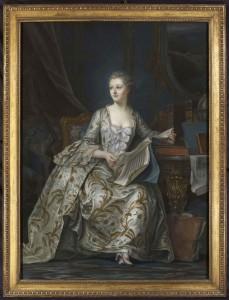 Life size portrait of Madame de Pompadour at Nicholas Price Fine Art.