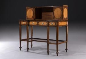 A George III Hepplewhite writing cabinet at Freshfords
