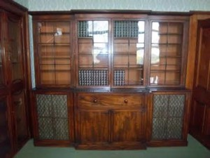 A Regency secrétaire four door bookcase.