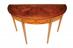 A c1790 satinwood and marquetry side table (3,000-5,000)