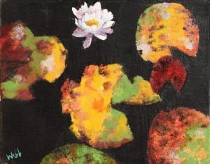 Kenneth Webb RWA FRSA RUA (b.1927) Lilly Pond  (1,200-1,800)