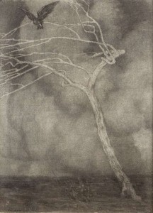 Paul Henry RHA (1876-1958). Cloudscape with Bird in a Thorn Tree (4,000-6,000).