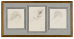 Sir Edward Coley Burne-Jones - Three Studies for The Wheel of Fortune.