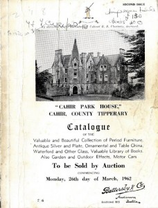 The catalogue for the six day auction at Cahir Park House in 1962 (80-120)