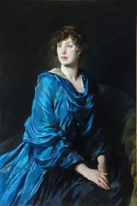 A portrait of Mary's mother, Peggy Primrose, by Glyn Philpot.
