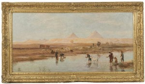 Frederick Goodall (1822-1904) Crossing the Waters of the Nile (3,000-4,000).