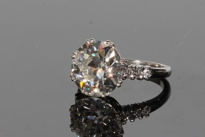 A 6.7 carat diamond solitaire ring (80,000-120,000).