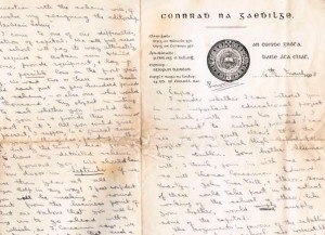 A four page manuscript letter dated 1908 from Padraig Pearse to Padraic MacManus in Argentina appealing for funds to establish an Irish language high school in Dublin 912,000-15,000).