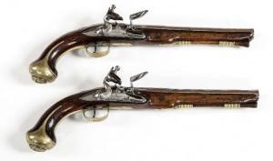 A pair of Irish provincial holster pistols (7,000-9,000).