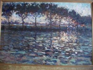 Arthur Maderson - Late Evening, River Blackwater at Treasures Irish Art of Athlone.