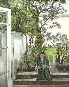 Patrick Swift (1927-1983) GIRL IN A GARDEN, c.1953   (20,000-30,000).