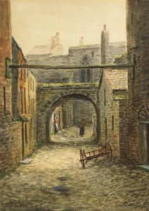 Alexander Williams RHA (1846-1930) SAINT AUDEON'S ARCH, A BIT OF THE OLD CITY WALL, DUBLIN watercolour  (2,000-3,000).