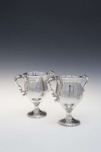 A PAIR OF IRISH GEORGE III SILVER LOVING CUPS, Dublin 1790, mark of Matthew West (3,000-5,000).
