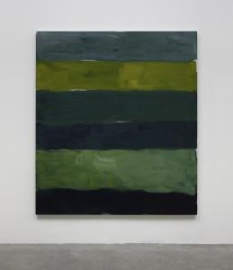 Sean Scully - Landline, Green White, 2014 - oil on aluminium