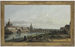 Bernardo Bellotto (1721-1780), Dresden from the right bank of the Elbe above the Augustus Bridge. Courtesy Christie's Images Ltd., 2015.