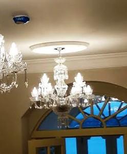 An Irish cut crystal chandelier (700-1,200).