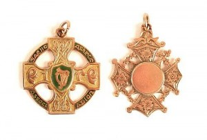 "GAA Football. ""Virtual Championship of All Ireland"" 1895 and Leinster Championship 1895 gold medals (5,000-7,000)."