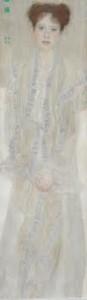 Property from the Fels?ványi Collection Gustav Klimt Bildnis Gertrud Loew (Gertha Fels?ványi) / (Portrait of Gertrud Loew -Gertha Fels?ványi) signed Gustav Klimt and dated 1902 (upper left)
