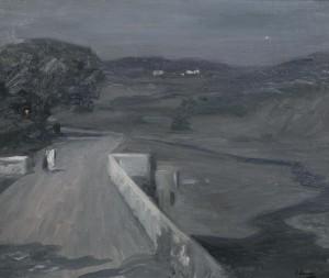 Moonlight - the Bridge by Sir John Lavery