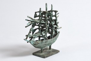 ohn Behan RHA (b.1938) Famine Ship  bronze sculpture edition 1/9 (2,500-3,500)