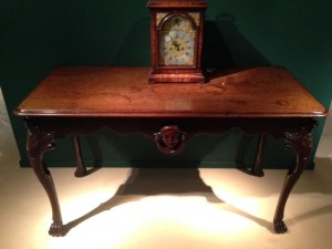 A c1745 Irish side table at Rolleston (£90,000).