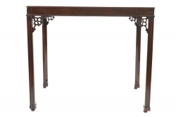 An 18th century Chippendale silver table (2,500-3,500).