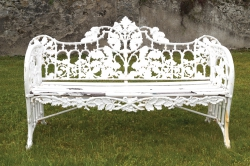 A Coalbrookedale garden seat (1,400-1,800).