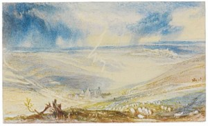 J.M.W. Turner's watercolour of the aftermath of the Battle of Waterloo.