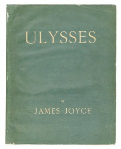 The first edition of James Joyce's Ulysses at Bonhams.