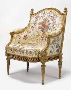 This fauteuil en bergere supplied to Marie Antoinette for the Pavilion Belvedere sold for £1,762,500.