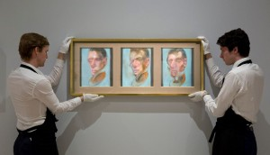 Francis Bacon - Three Studies for a Self-Portrait (1980) sold for £14.7 million.