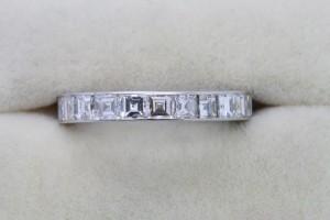 An emerald cut eternity ring by Bulgari at Weldons (6,500).