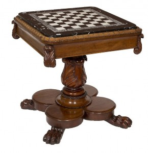 A William IV Games Table (5,000-7,000).