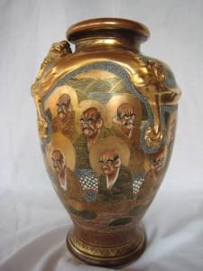 A c1880 satsuma vase  at Brian Hurley, priced 395.