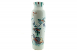 This Qing  Famille Vert vase made 42,000.