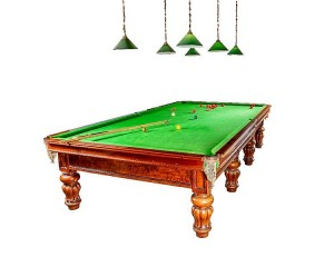 A full size Victorian snooker table.
