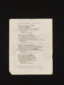 The Dylan lyrics