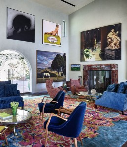 An interior shot of Sam Simon's house in Los Angeles.