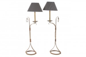 A pair of French design standard lamps