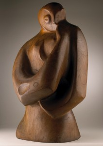 Peter King - Female Figure, elm wood