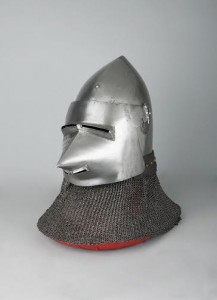 Visored bascinet, late 14th-early 15th century. Copyright The Wallace Collection.