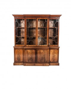 IRISH BREAKFRONT MAHOGANY BOOKCASE, c.1920 (2,000-3,000).