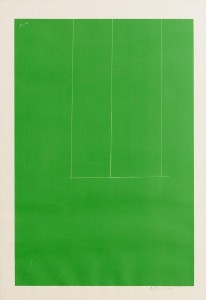 ROBERT MOTHERWELL (1915-1991) AMERICAN LONDON SERIES I: UNTITLED (GREEN) (1971) (1,000-1,500)