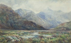 Alexander Williams RHA (1846-1930) Maam Valley, Connemara Watercolour (600-800).