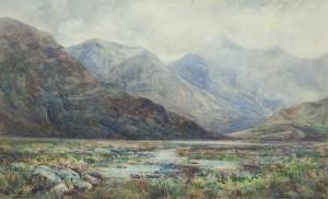 Alexander Williams RHA (1846-1930) Maam Valley, Connemara Watercolour (600-800).