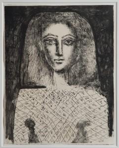 PABLO PICASSO (1881-1973) Le Corsage à Carreaux lithograph, 1949 (£30,000-50,000).