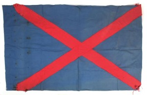 The flag of the Army Comrades Association or Blueshirts (1,000-1,500).