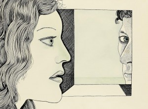 Lucian Freud  - Girl and Self Portrait